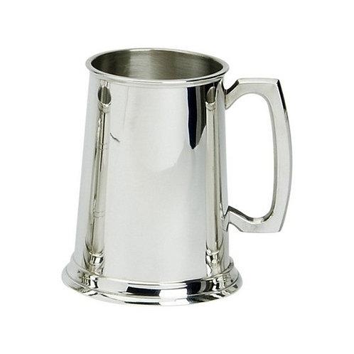 Tankard | 1 Pint | Plain | Pewter | Free Engraving
