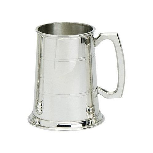 Tankard | 1 Pint | Two Line Design | Pewter | Free Engraving