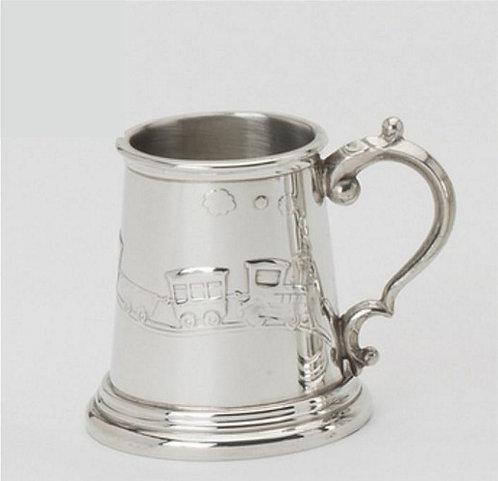 Childs Mug | Puffing Billy Train | Sheffield Pewter | Free Engraving