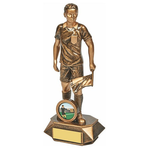 Antique Gold Assistant Referee Resin - 200mm