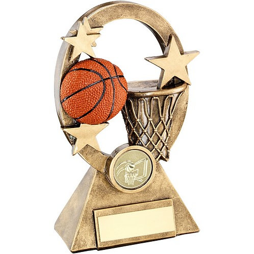 Basketball Oval/Stars Series Trophy - 159 mm