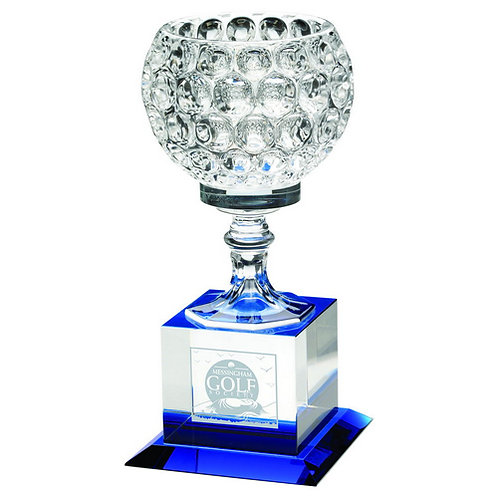 ClearGlass Goblet On ClearBlock Base - 197 mm