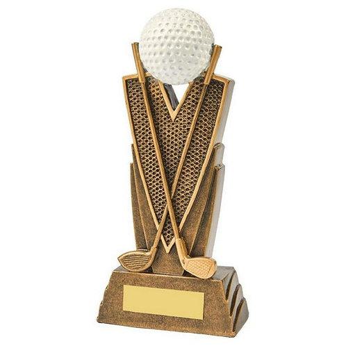 Antique Gold Golf Club/Ball Resin - 190mm