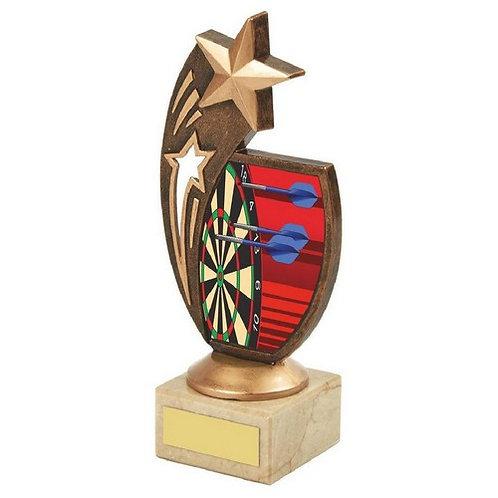 Antique Gold Darts Star Award - 185mm