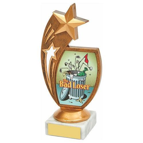 Antique Gold Star Awards - 'Bad Loser' - 170mm