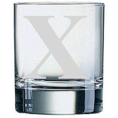 Dartington Crystal Initial Tumbler | Letter X | Boxed | Free Engraving