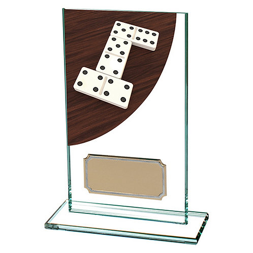 Colour Curve Dominoes Jade Glass Award - 140mm