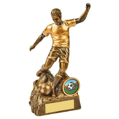 Antique Gold Male Football Resin - 170mm