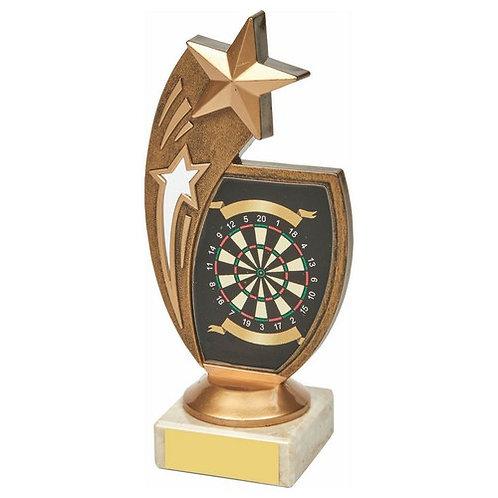 Antique Gold Darts Star Award - 170mm