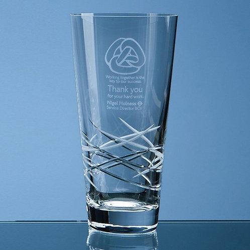 Tiesto Cut Conical Vase | 205mm | Free Engraving