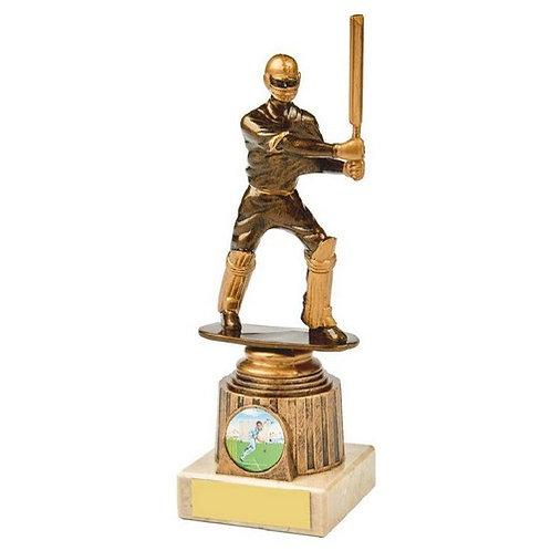 Antique Gold Cricket Batsman Award - 200mm