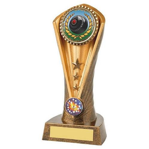 Antique Gold Lawn Bowls Cobra Trophy - 190mm