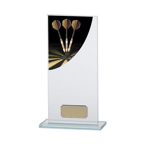 Colour Curve Darts Jade Glass Award - 200mm