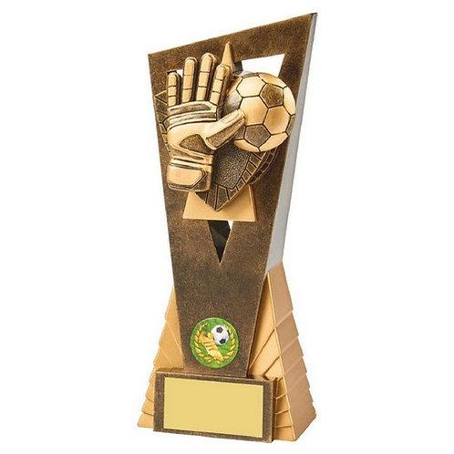 Antique Gold Football Goalie Edge Award - 210mm