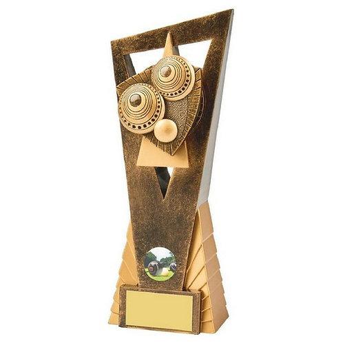 Antique Gold Lawn Bowls Edge Award - 230mm