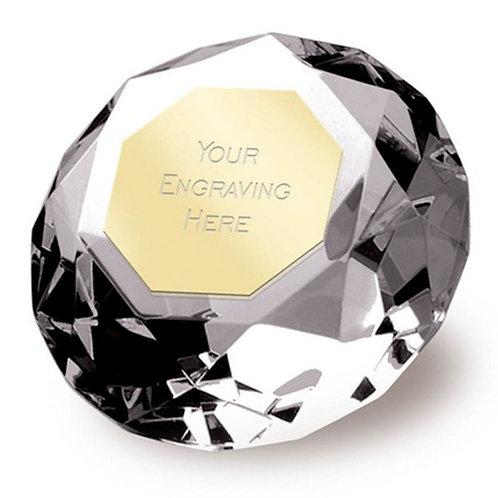 Clarity Diamond | Metal Plate | Free Engraving