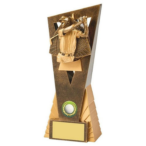 Antique Gold Male Golf Edge Award - 210mm