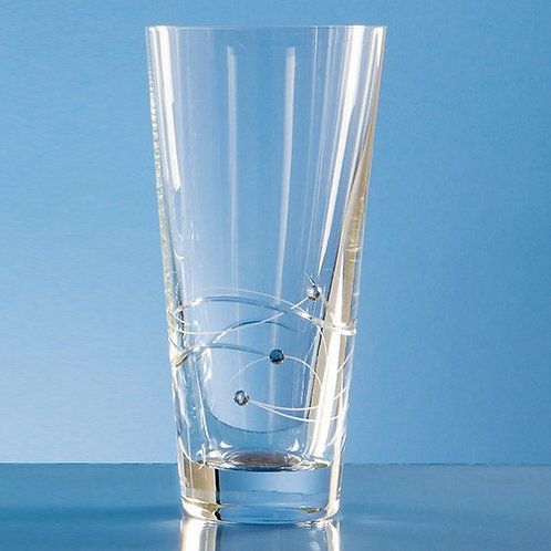 Spiral Cut Crystal Vase | Swarovski Elements | 200mm | Free Engraving