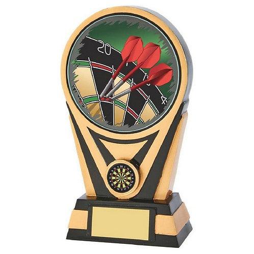 Black/Gold Resin Darts Trophy - 200mm