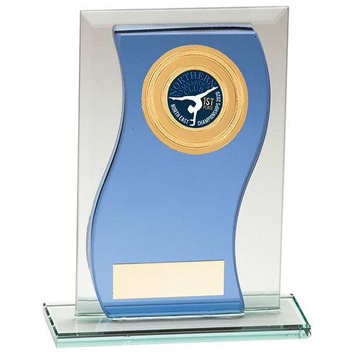Azzuri Wave Multisport Mirror Glass Award Blue & Silver - 165mm
