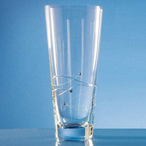 Spiral Cut Crystal Vase | Swarovski Elements | 300mm | Free Engraving