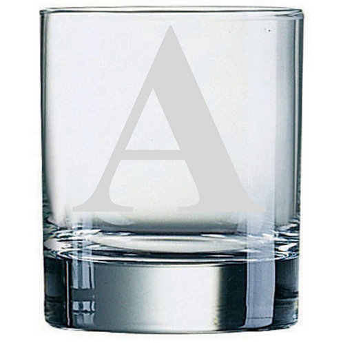 Dartington Crystal Initial Tumbler | Letter A | Boxed | Free Engraving