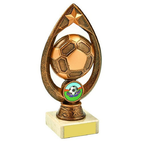 Antique Gold Football Trophy - 170mm
