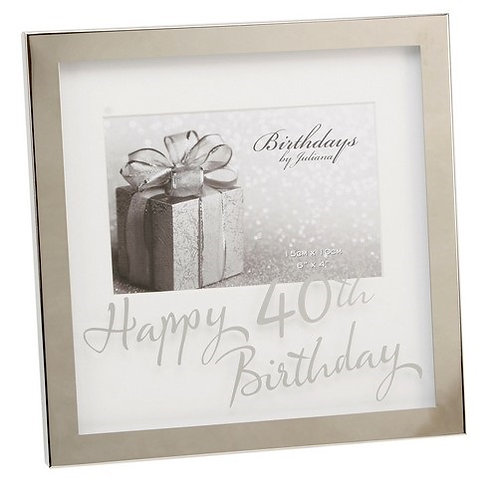 "Photoframe | 40th Birthday |  6 x 4"" | Mirror Print | Free Engraving"