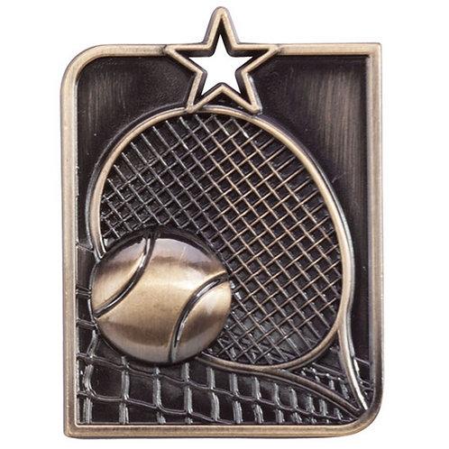Centurion Star Series Tennis Medal Gold - 53x40mm