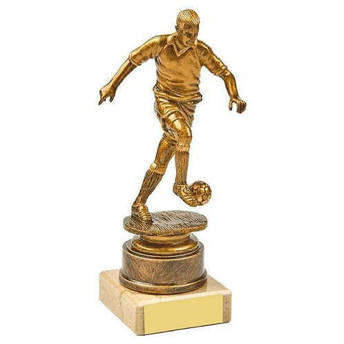 Antique Gold Male Footballer Award - 165mm