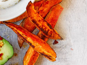 Sweet Potato Fries spiced with Cayenne pepper.