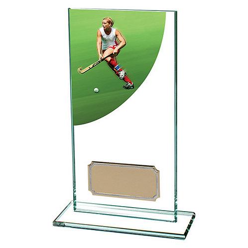 Colour Curve Hockey Jade Glass Award - 160mm