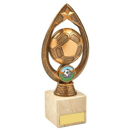 Antique Gold Football Trophy - 200mm