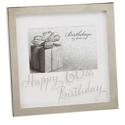 "Photoframe | 60th Birthday |  6 x 4"" | Mirror Print   | Free Engraving"