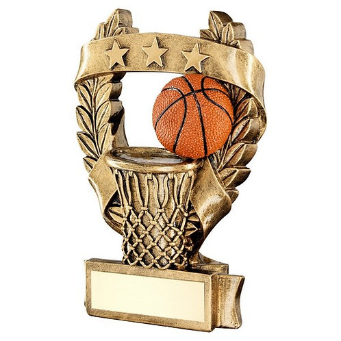 Basketball 3 Star Wreath Award Trophy - 159 mm