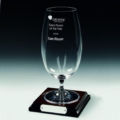 Beer Glass on Wood Stand - 680ml - 220mm