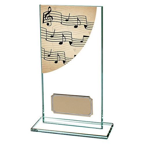 Colour Curve Music Jade Glass Award - 160mm
