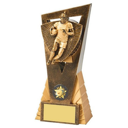 Antique Gold Male Rugby Player Edge Award - 180mm