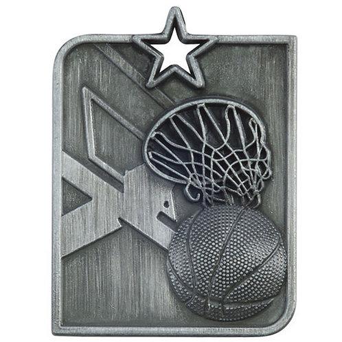 Centurion Star Series Basketball Medal Silver - 53x40mm