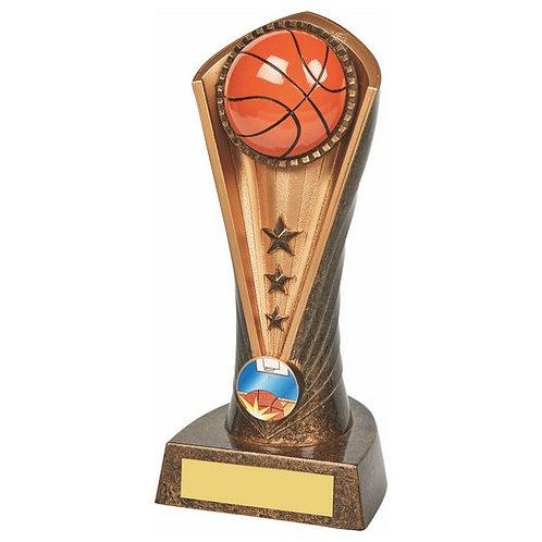 Antique Gold Basketball Cobra Trophy - 190mm