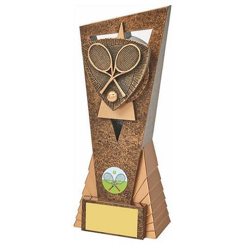 Antique Gold Tennis Edge Trophy - 210mm