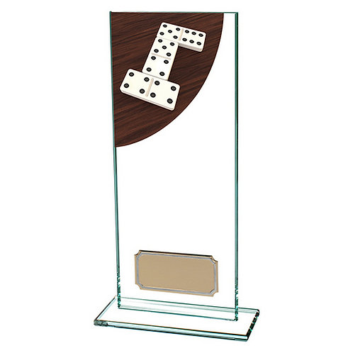 Colour Curve Dominoes Jade Glass Award - 200mm