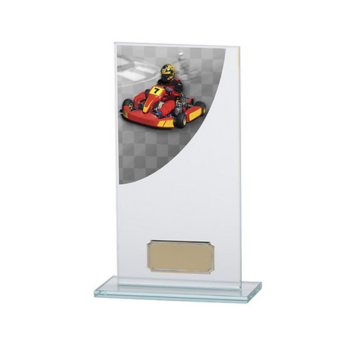 Colour Curve Go-Kart Jade Glass Award - 180mm