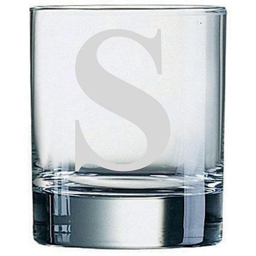 Dartington Crystal Initial Tumbler | Letter S | Boxed | Free Engraving