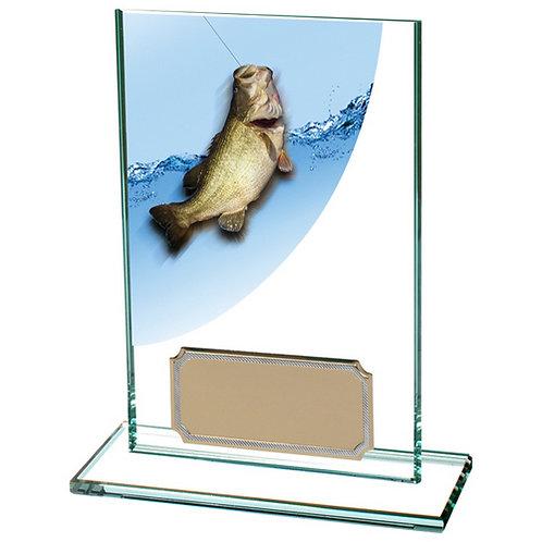 Colour Curve Angling Jade Glass Award - 125mm