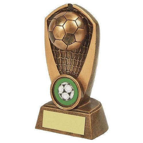 Antique Gold Resin Football Award - 120mm