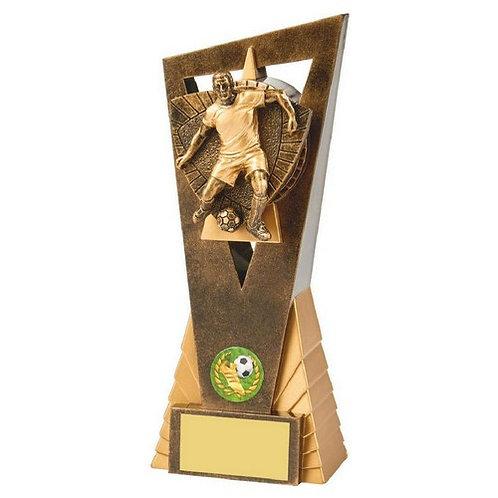 Antique Gold Male Footballer Edge Trophy - 210mm