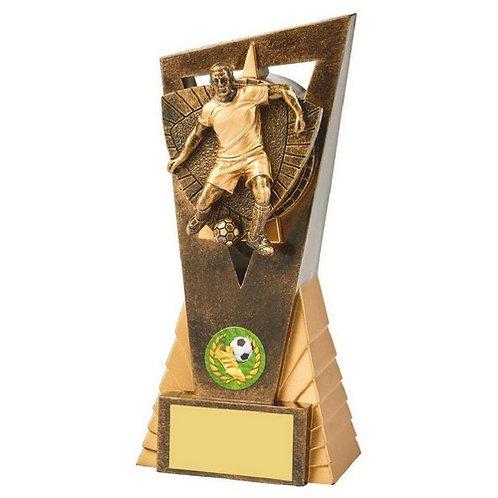 Antique Gold Male Footballer Edge Trophy - 180mm