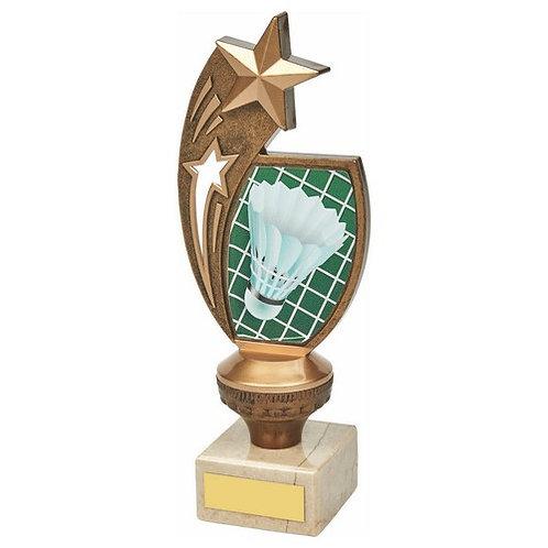 Antique Gold Badminton Star Award - 210mm