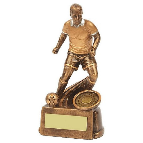 Antique Gold Male Football Resin - 150mm